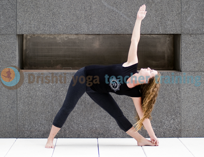 Triangle Yoga Pose Adjustments- Utthita Trikonasana