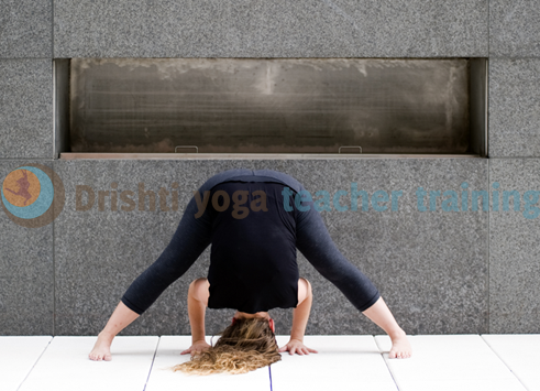 Wide-Legged Forward Bend Yoga Pose Adjustments- Prasarita Padottanasana