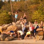 Yoga Poses On Thailand Beach