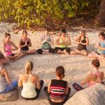 Meditation on Thailand Beach after Yoga class