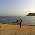 Beach Yoga Pose