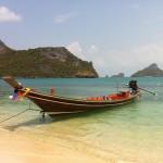 Thailand bottle beach boat